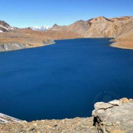 Jezioro Tilicho na trasie trekkingu dookoła Annapurny