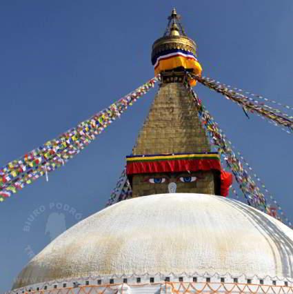 bouddanath stupa w kathmandu