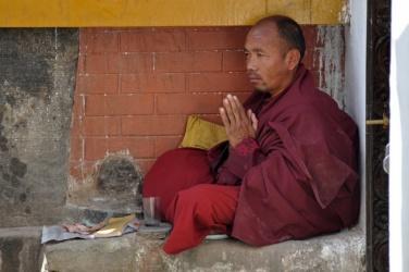mnich w Bouddanath