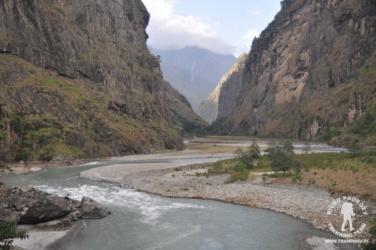 dolina rzeki Budhi Gandaki