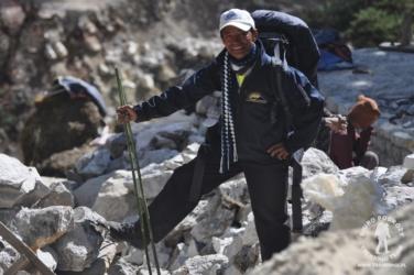 przewodnik w Himalajach