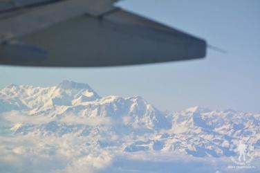 Masyw Annapurny widok z samolotu