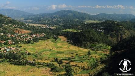 Himalaje Langtang, widok z Balthali Village Resort