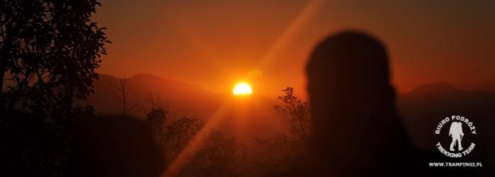 Wschód słońca z Nagarkot, Nepal